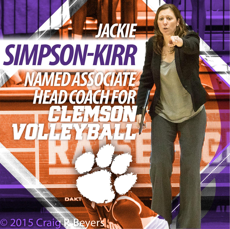 Simpson-Kirr Named Associate Head Coach & Recruiting Coordinator for Clemson Volleyball