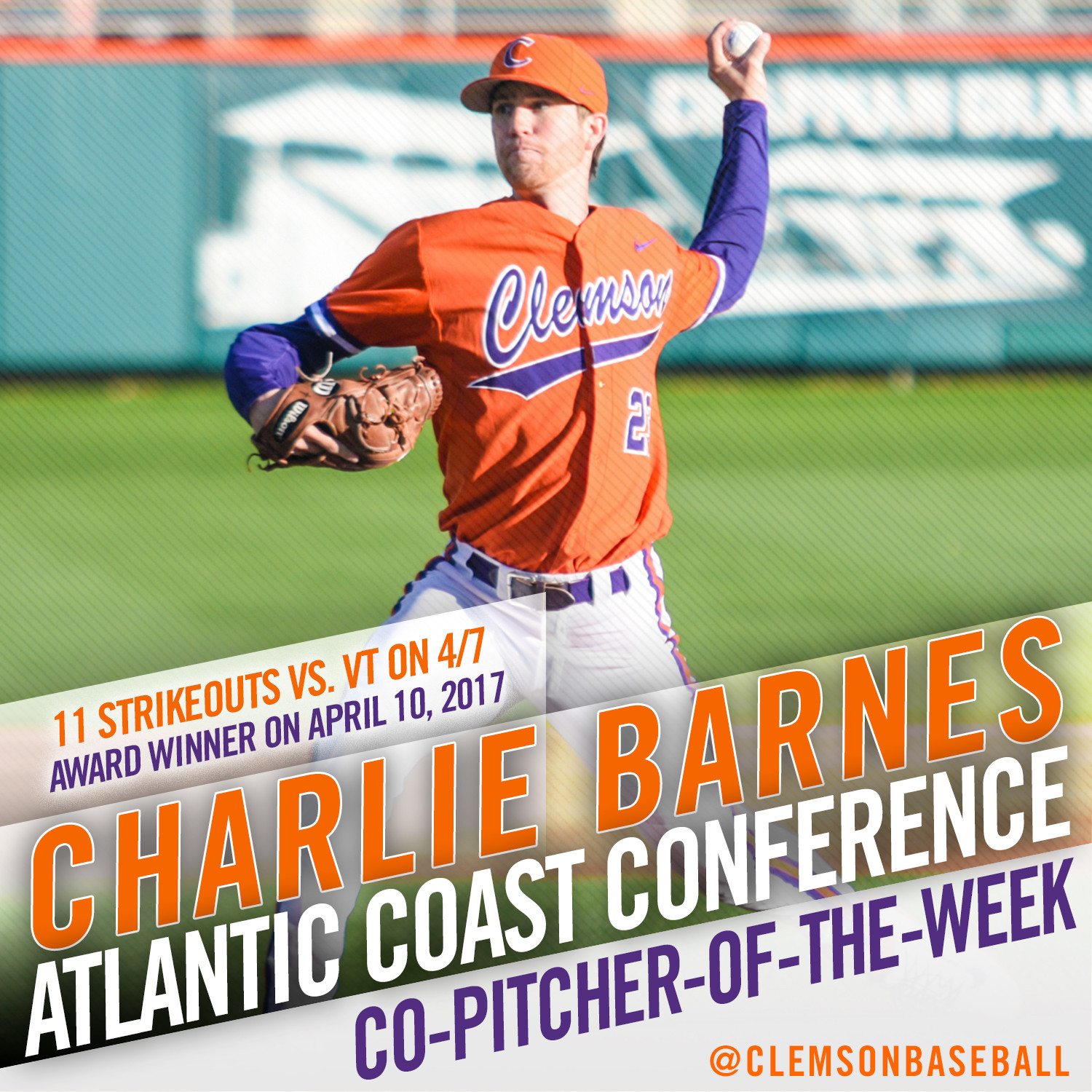 Barnes Named ACC Co-POTW