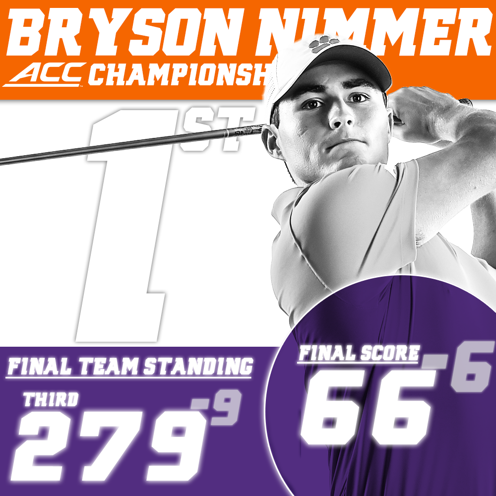 Nimmer Leads Clemson to 3rd Place Standing after 18 Holes at ACC Tournament