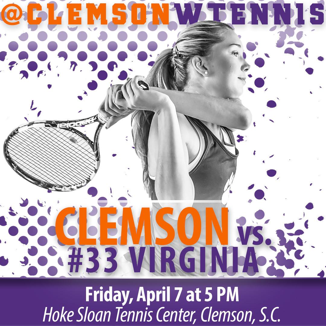 Clemson Hosts #33 Virginia Friday