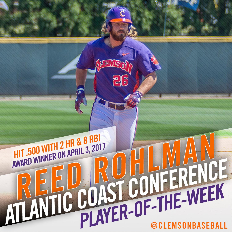 Rohlman Named ACC POTW