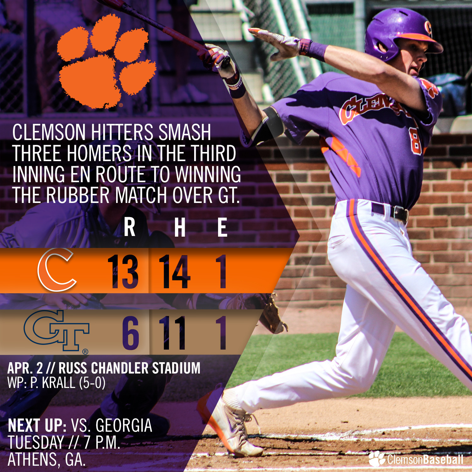 Tigers Power Past GT 13-6