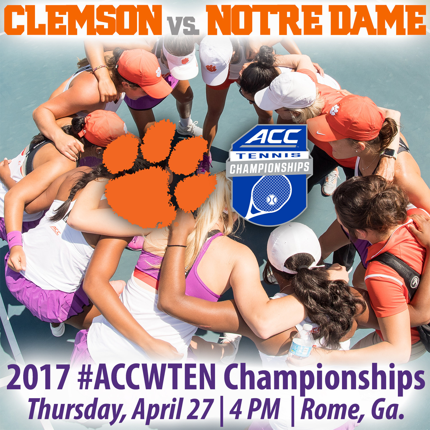 Tigers Face Notre Dame in ACC Championships Second Round Thursday