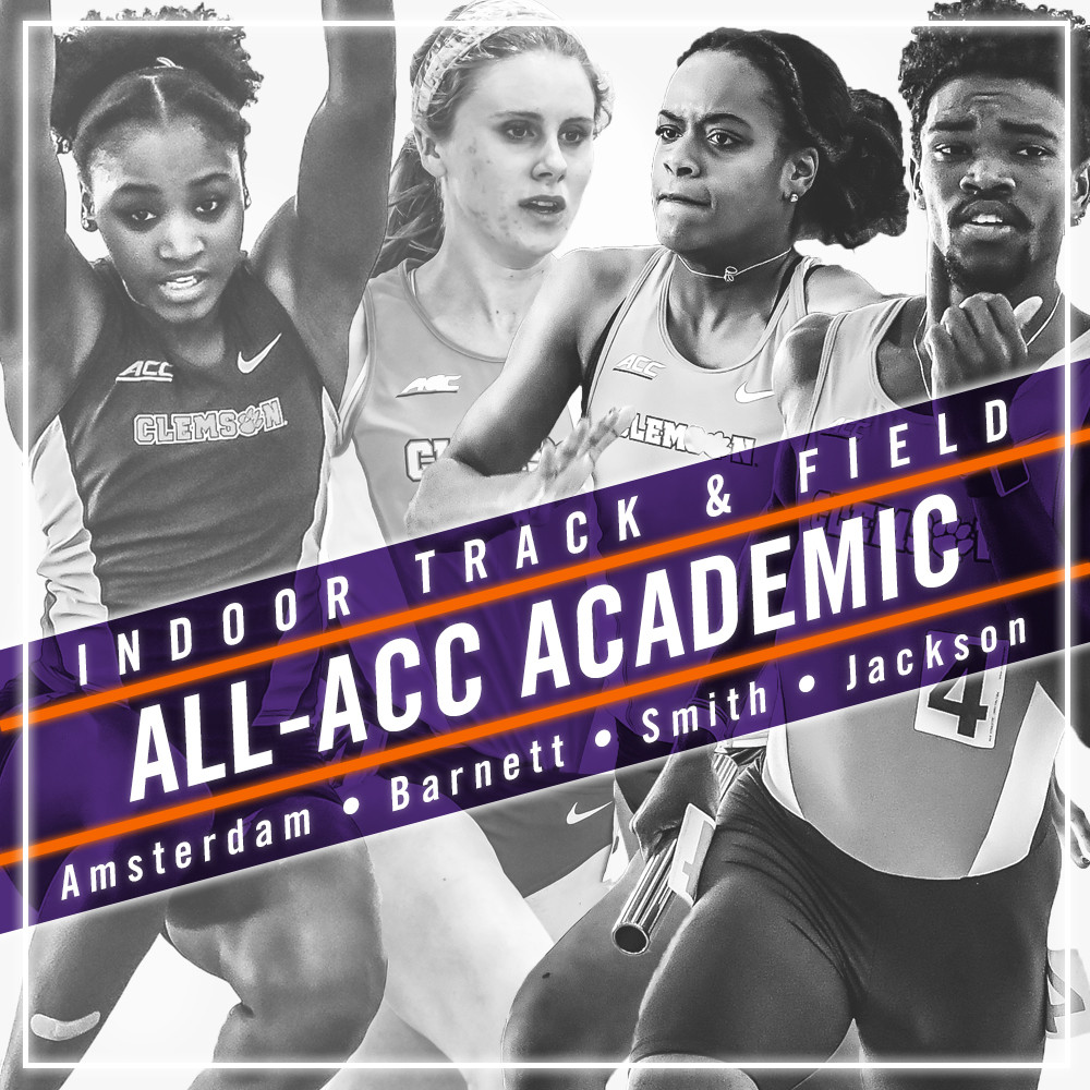 Four Tigers Named to All-ACC Academic Indoor Team