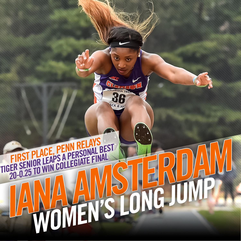 Amsterdam Wins Long Jump at Penn