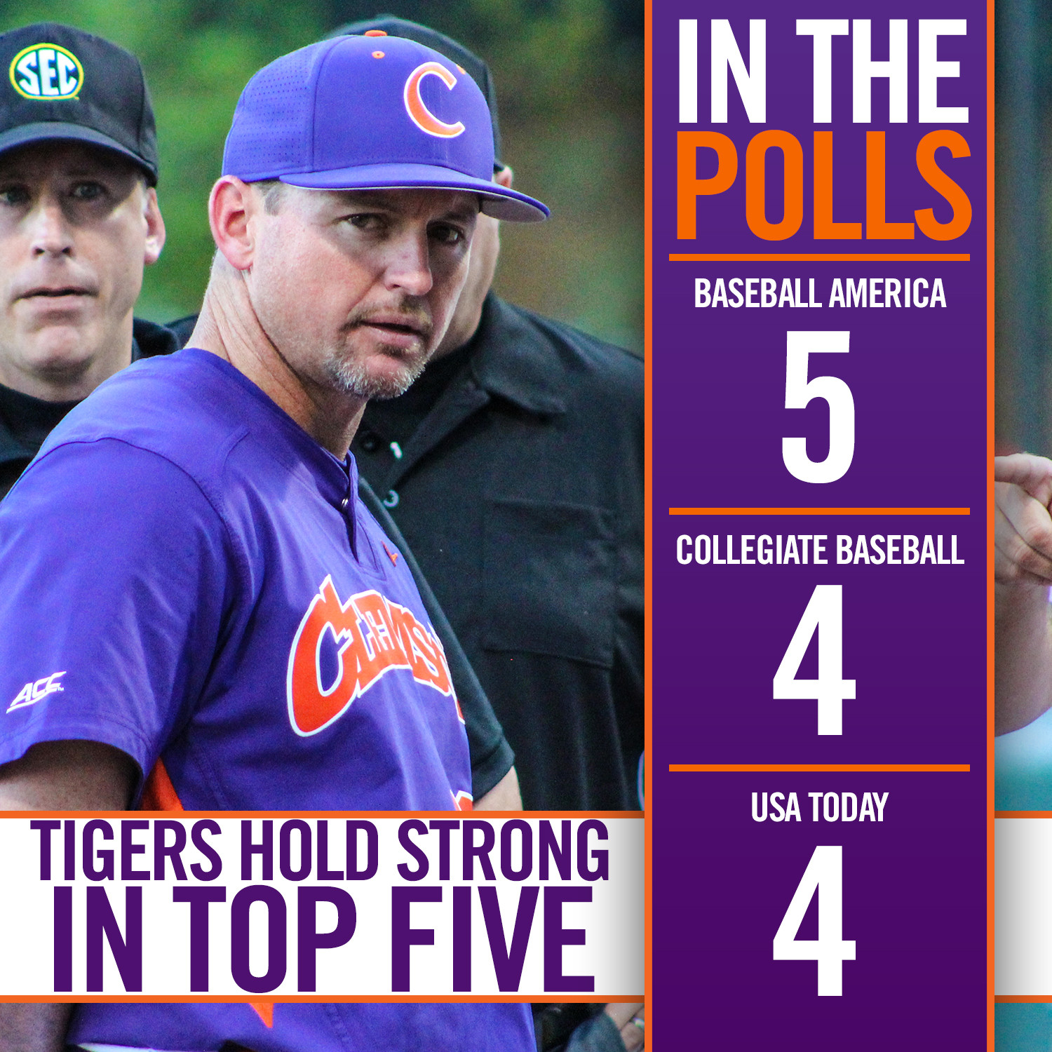 Tigers Hold Strong in Top Five