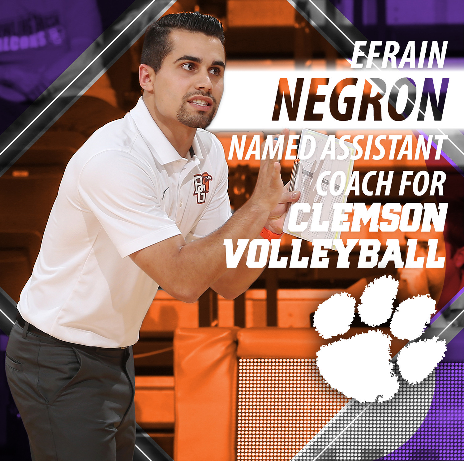Negron Joins Clemson Volleyball Staff as Assistant Coach