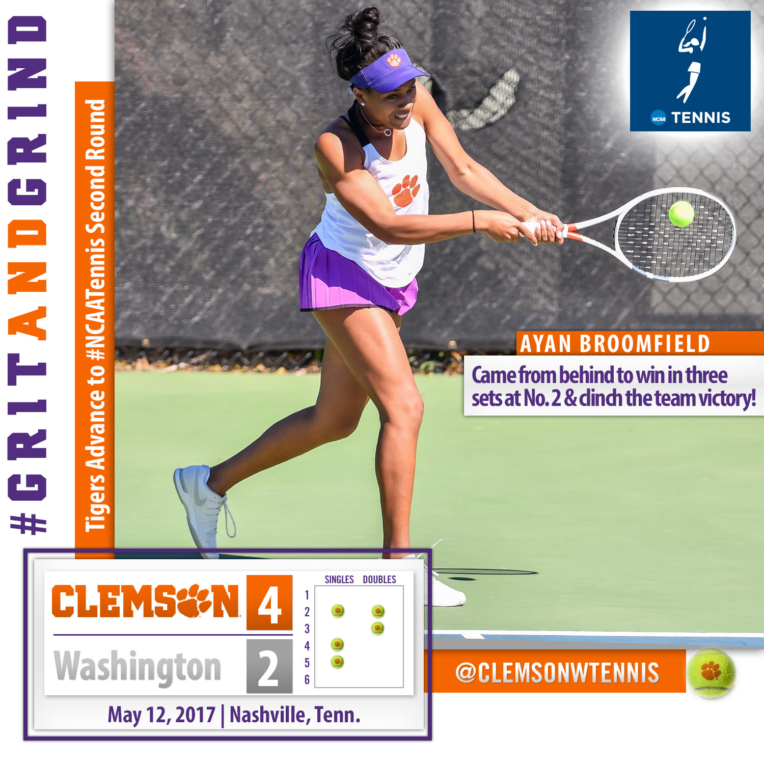 Tigers Earn Gutsy Victory over Washington in NCAA First Round