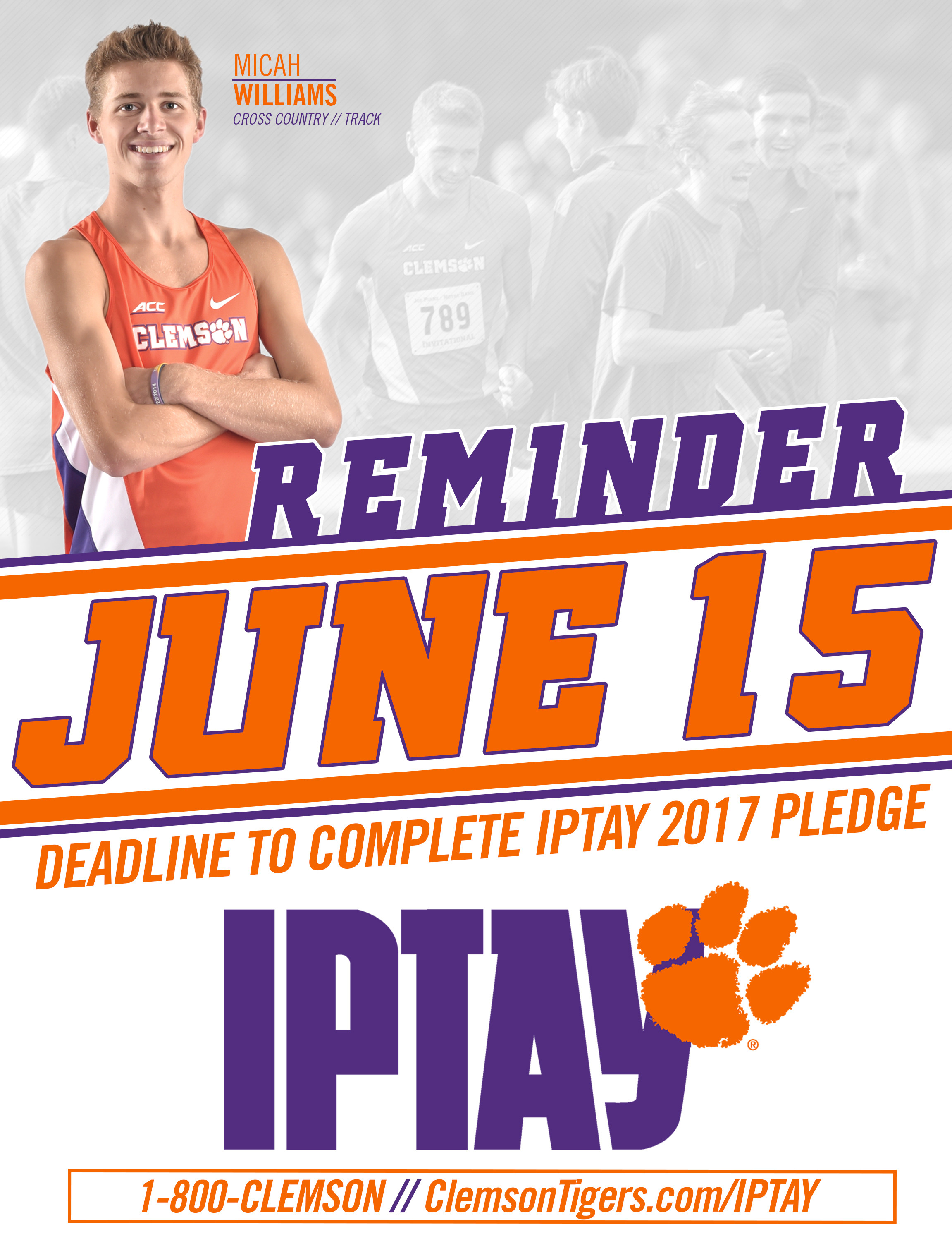 IPTAY 2017 June 15 Deadline Is Now Just One Month Away