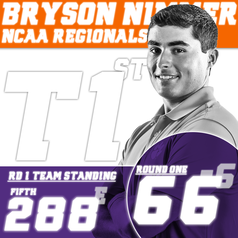 Clemson in Fifth Place after First Round of NCAA Regional