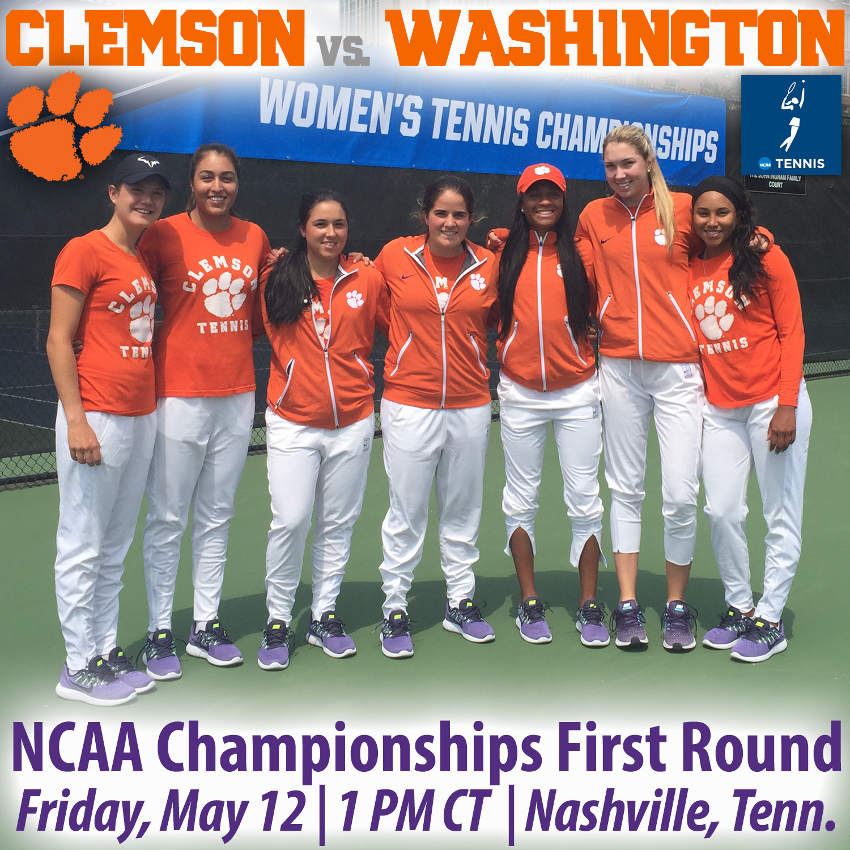 Clemson Meets Washington in NCAA 1st Round in Nashville Friday