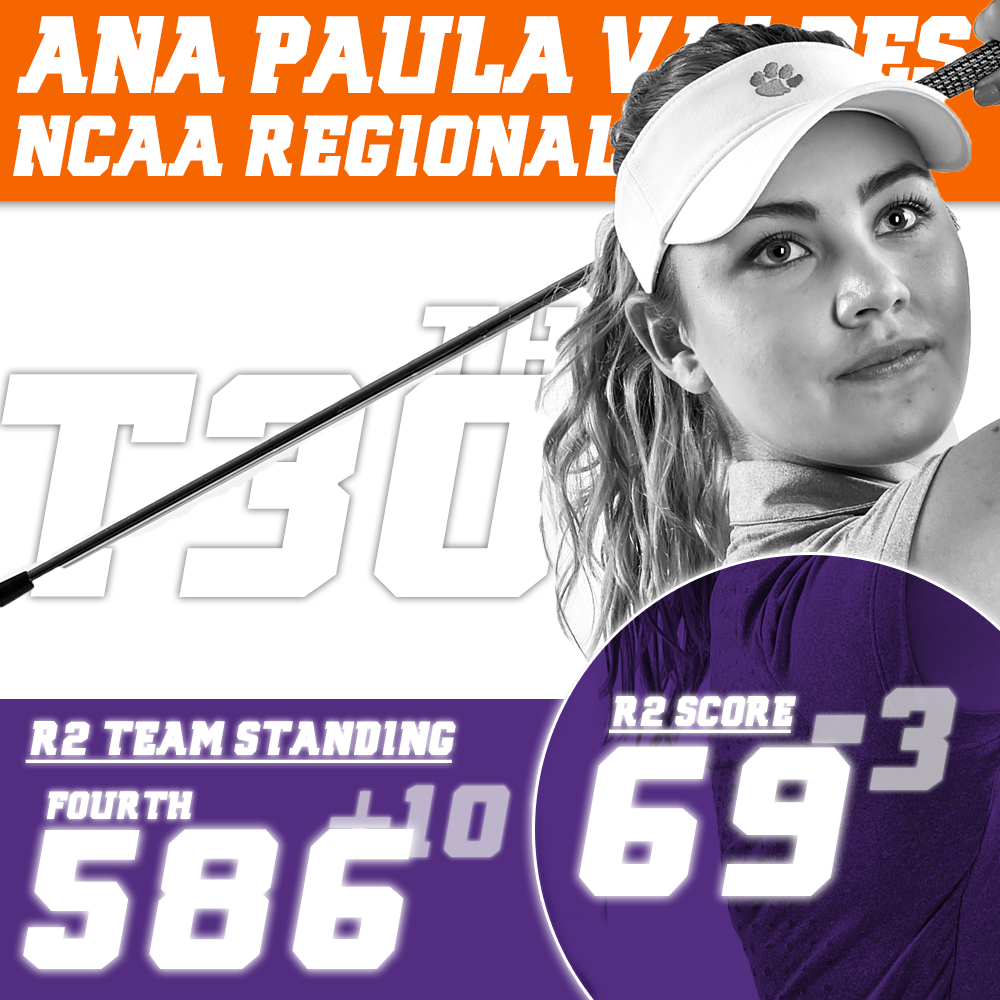 Clemson Jumps to Fourth Place at NCAA Regional