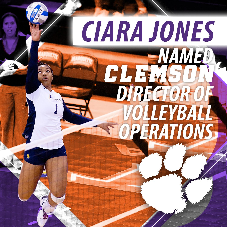Jones Named Clemson's Director of Volleyball Operations