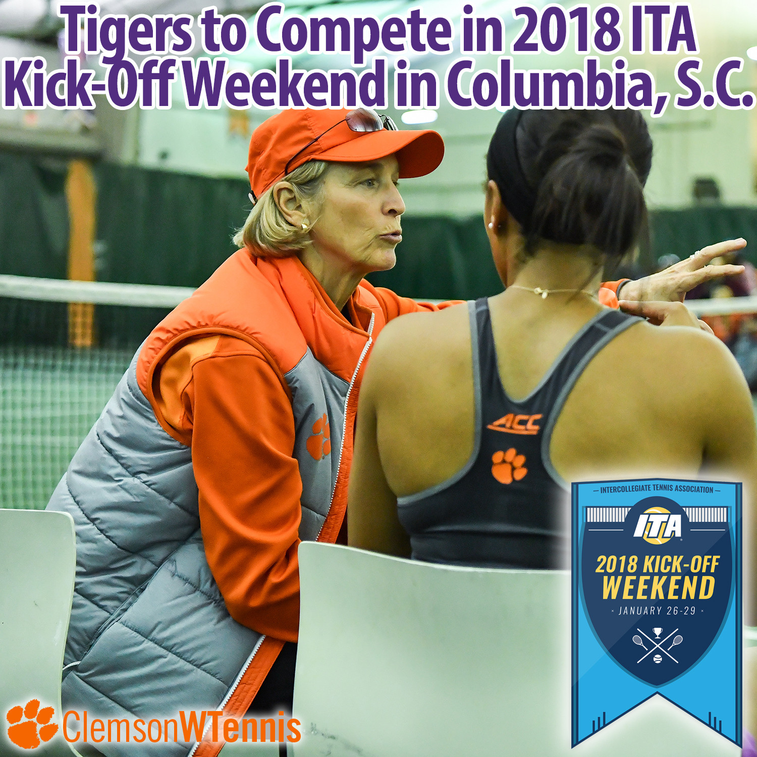 Clemson to Compete in 2018 ITA Kick-Off Weekend in Columbia, S.C.