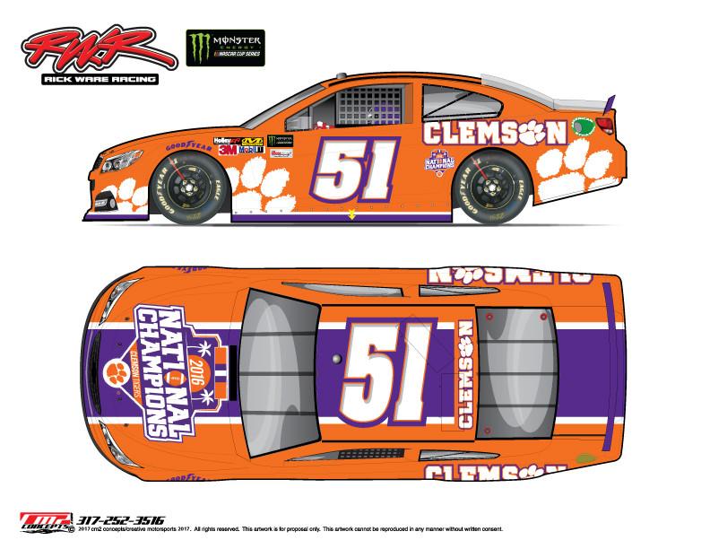 Pocono NASCAR Race Will Include Clemson Themed Car