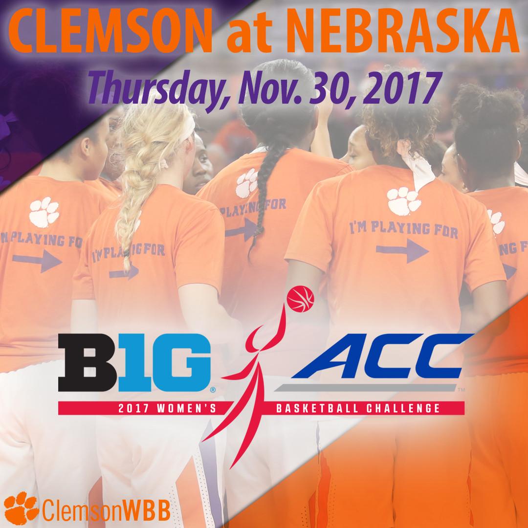 Tigers Travel to Nebraska for 2017 Big Ten/ACC Challenge