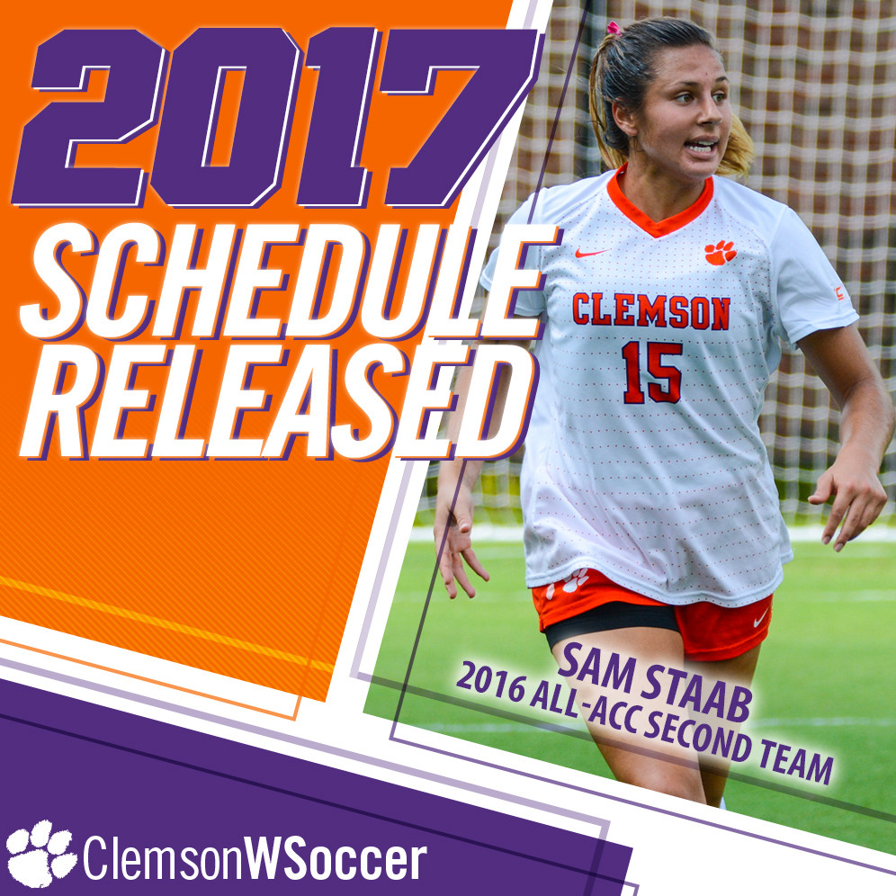Clemson Women's Soccer Announces 2017 Schedule