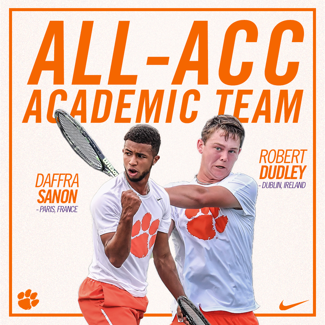 Dudley and Sanon Named to All-ACC Academic Team