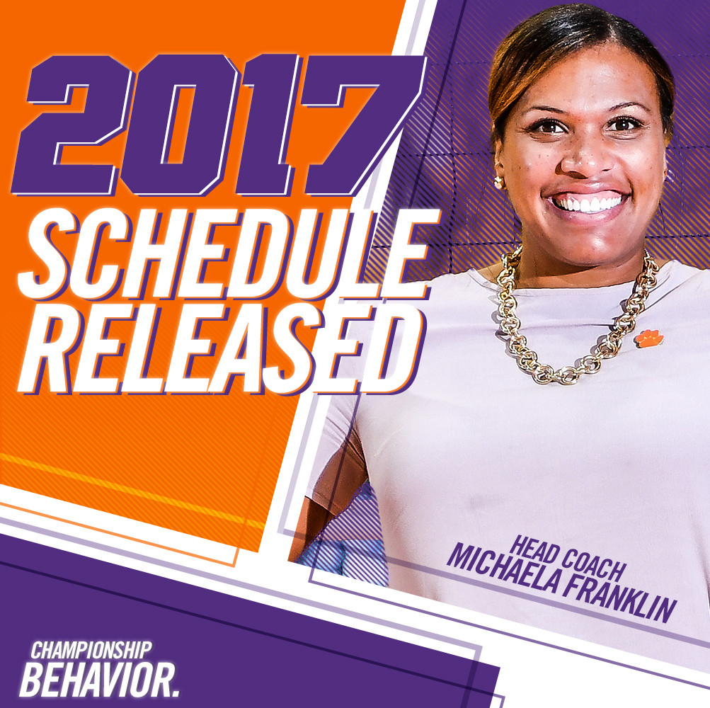 Clemson Volleyball Announces 2017 Schedule