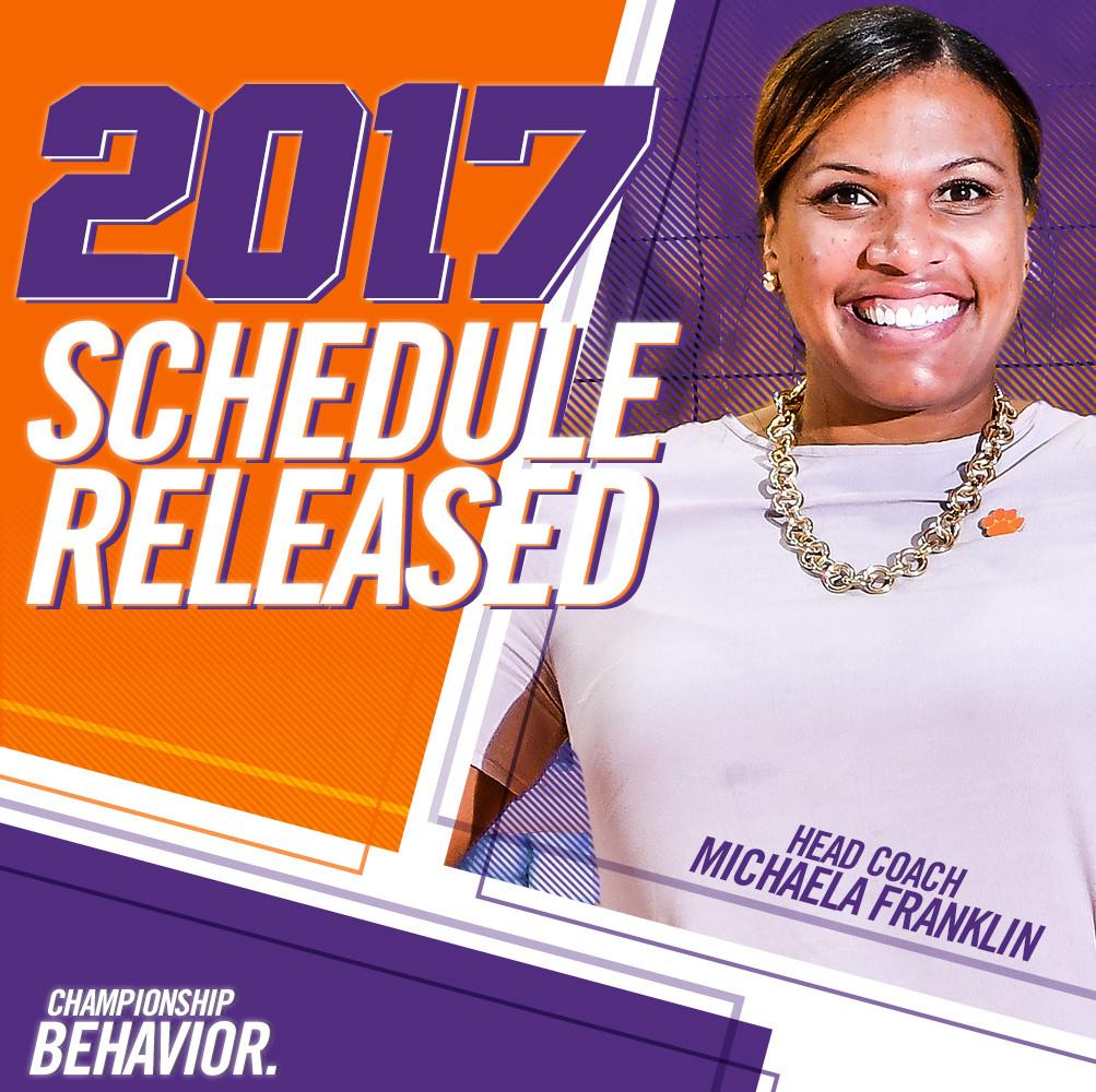 Clemson Volleyball Announces 2017 Schedule