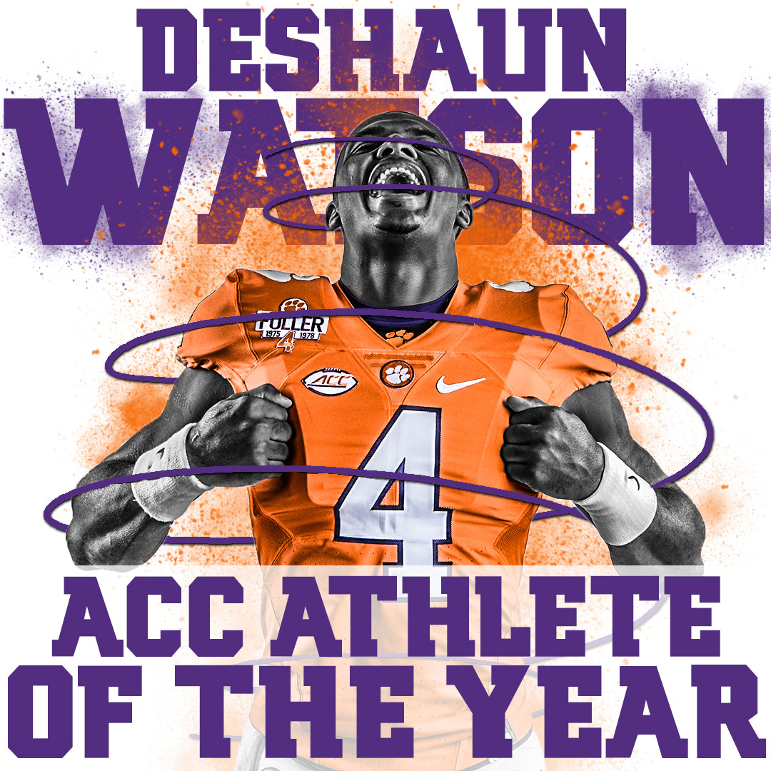 Watson Named ACC Athlete of the Year for Second Time