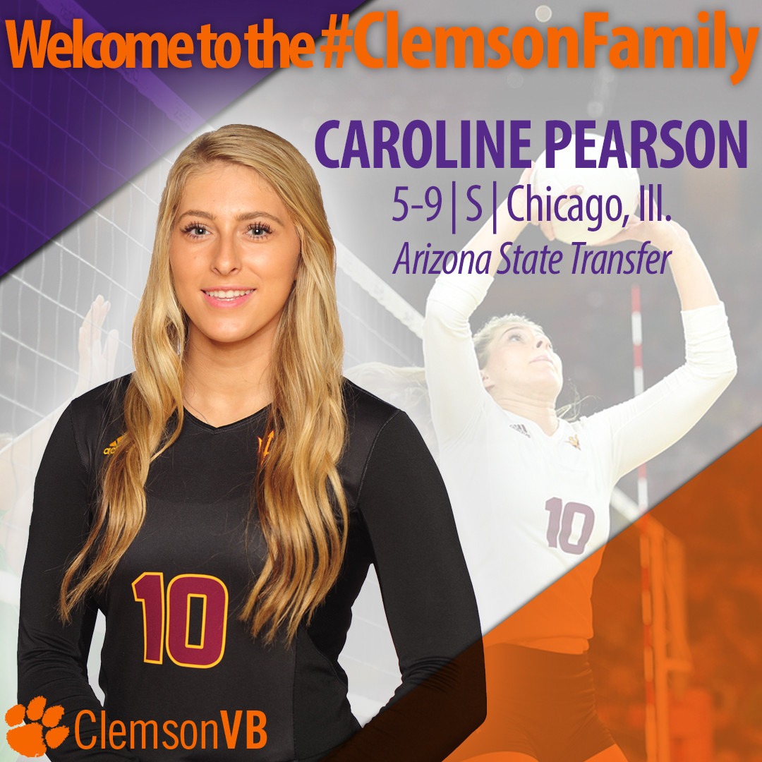 Pearson Joins Clemson Volleyball Team, Transfers from Arizona State