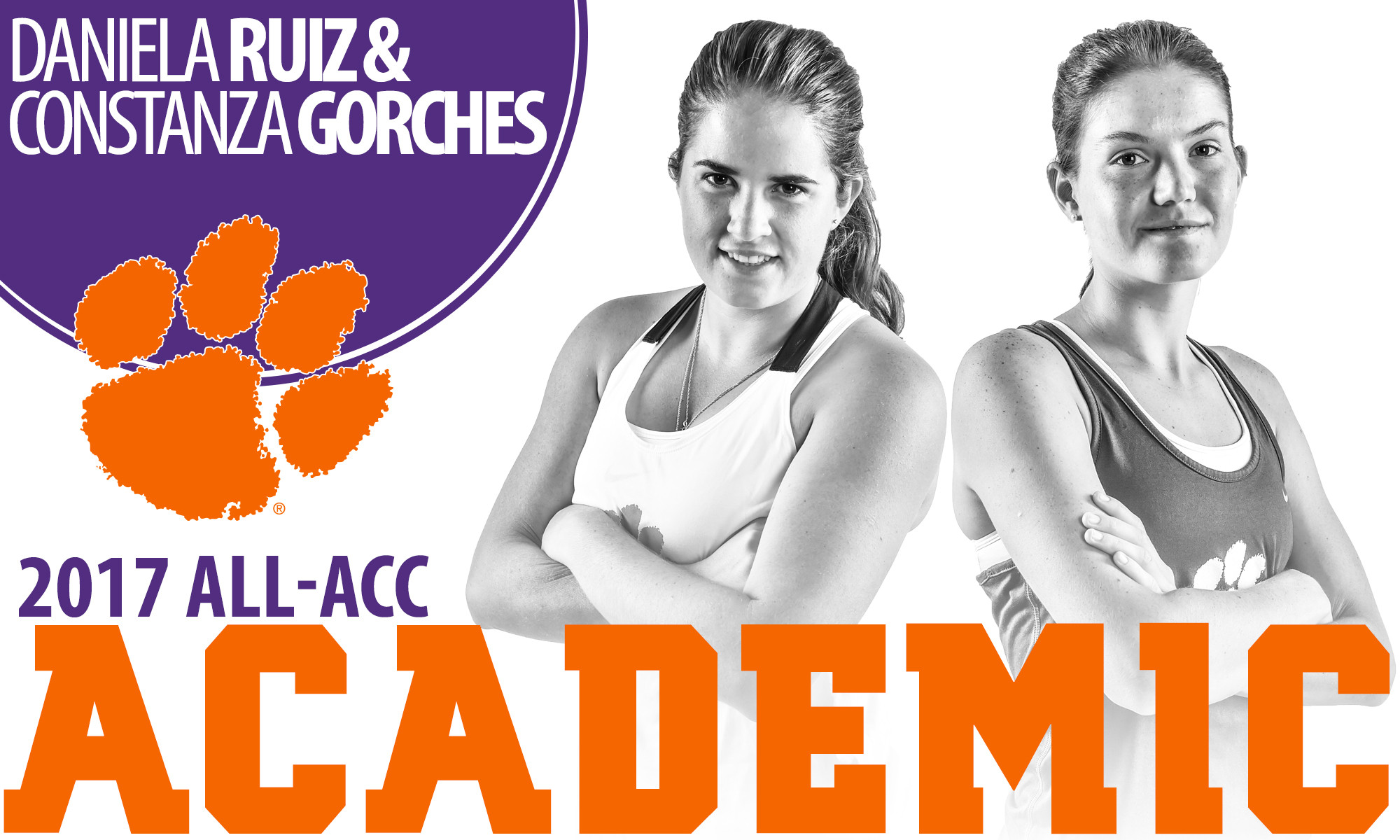 Gorches & Ruiz Named to 2017 All-ACC Academic Team