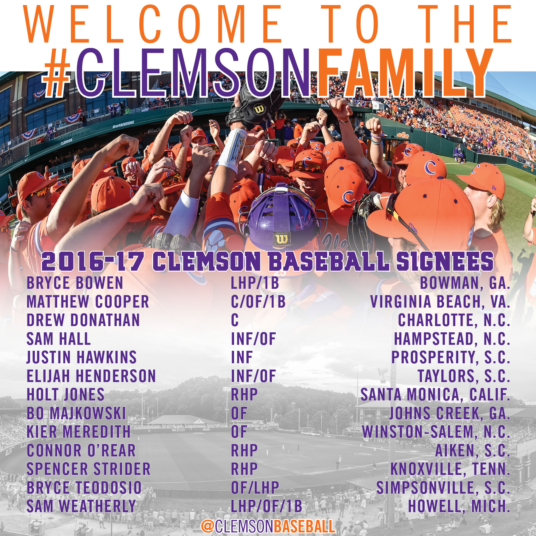 Clemson Signs 13 Players