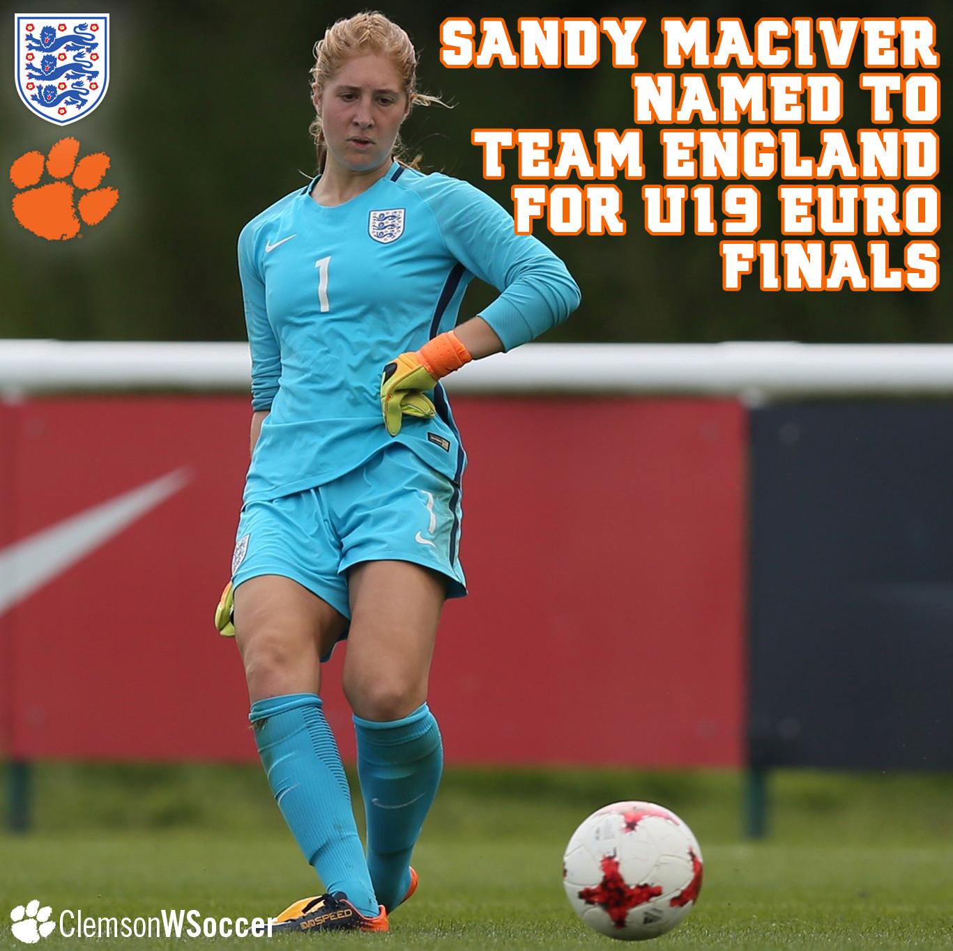 MacIver Named to England U19 WNT for UEFA U19 Euro Finals