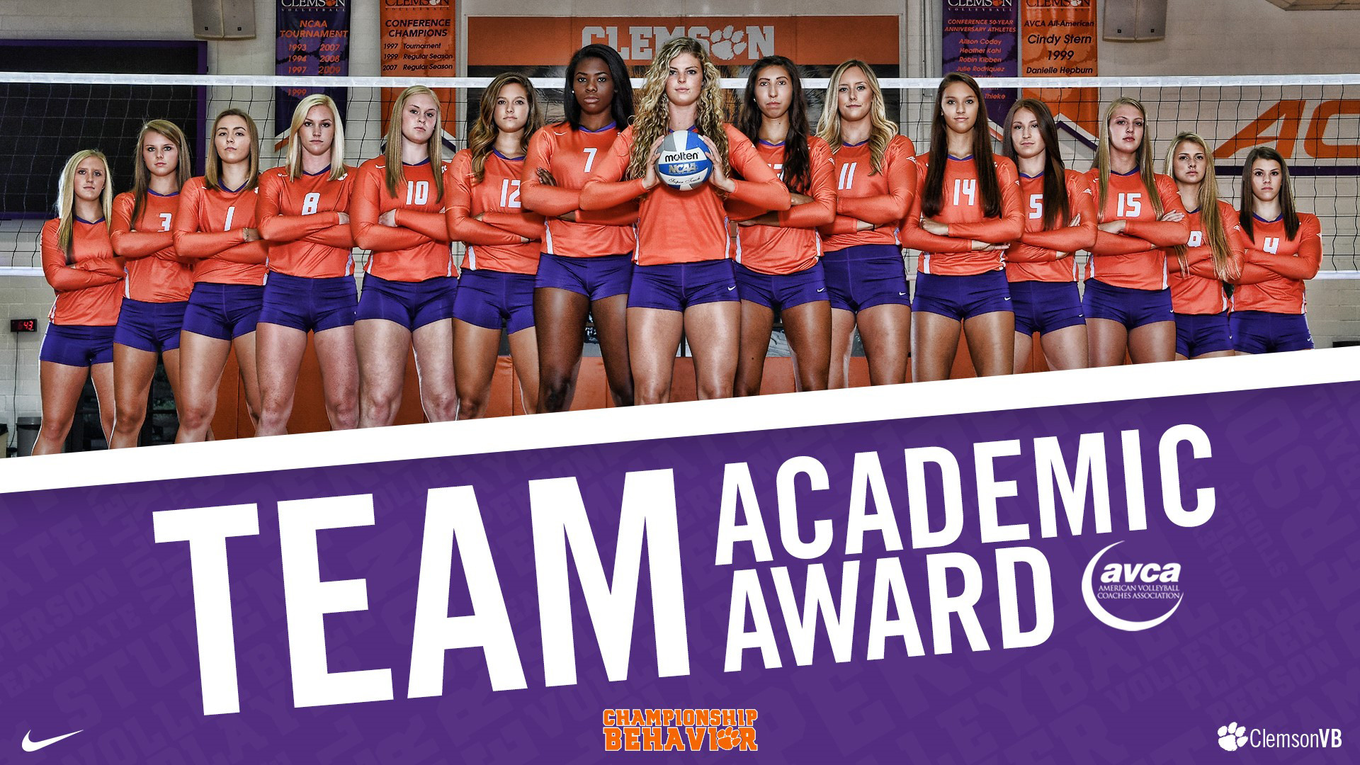 Clemson Volleyball Earns 2016-17 AVCA Team Academic Award, First Time in Program History