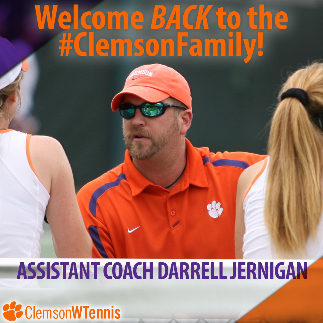 Jernigan Named Clemson Women's Tennis Assistant Coach
