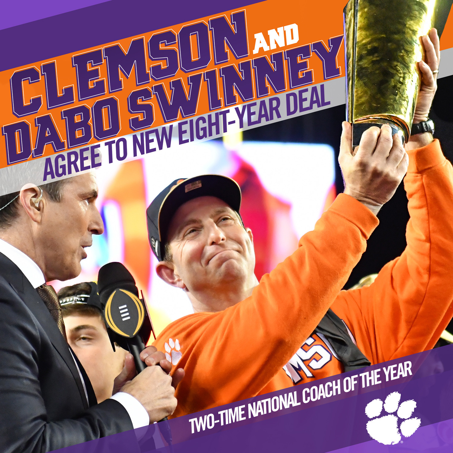 Clemson, Swinney Extend Commitment