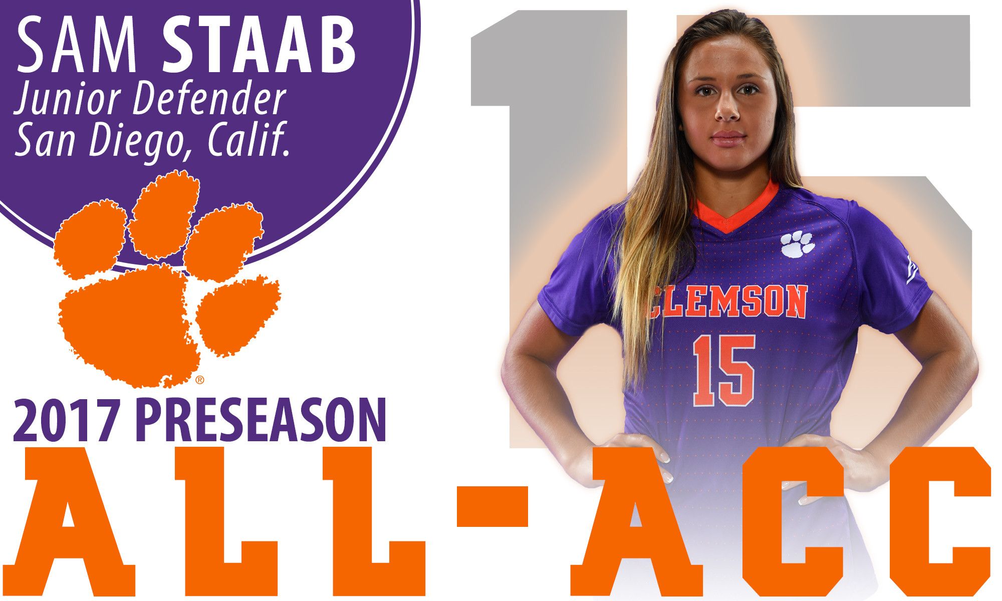 Staab Named to 2017 Preseason All-ACC Team