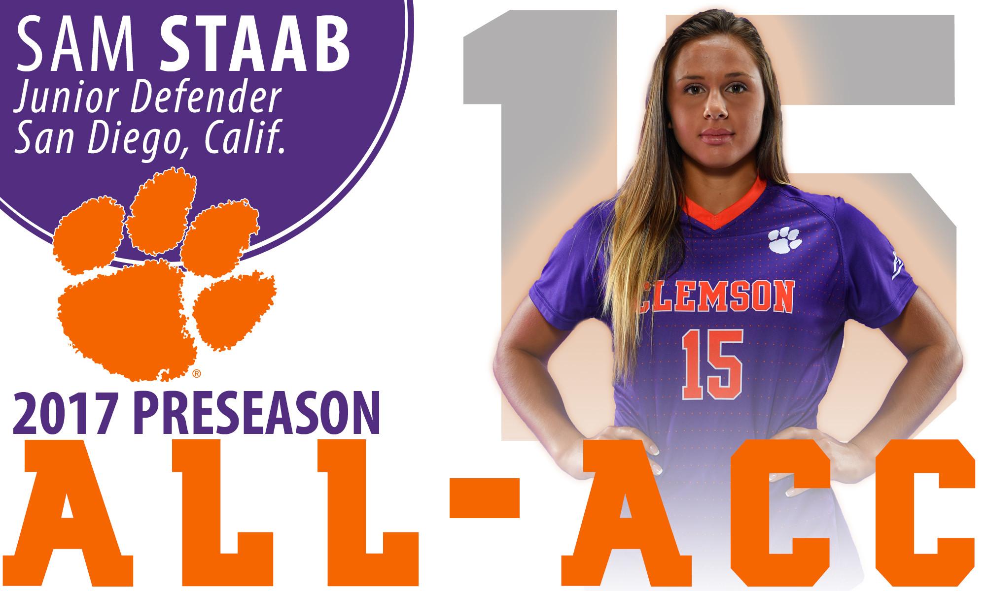Staab Named to 2017 Preseason All-ACC Team