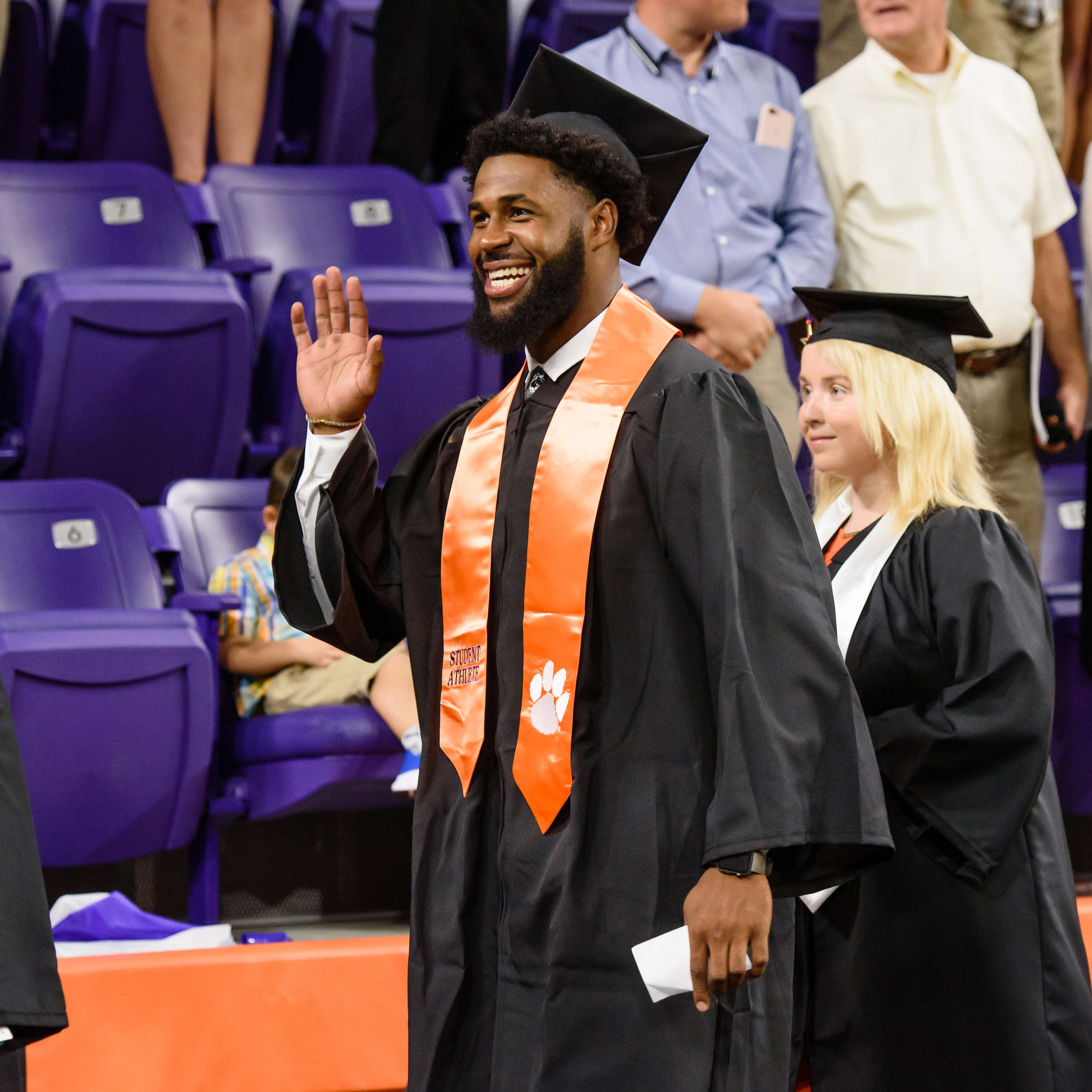 O'Daniel, Crowder and Falcinelli Earn Degrees on Friday