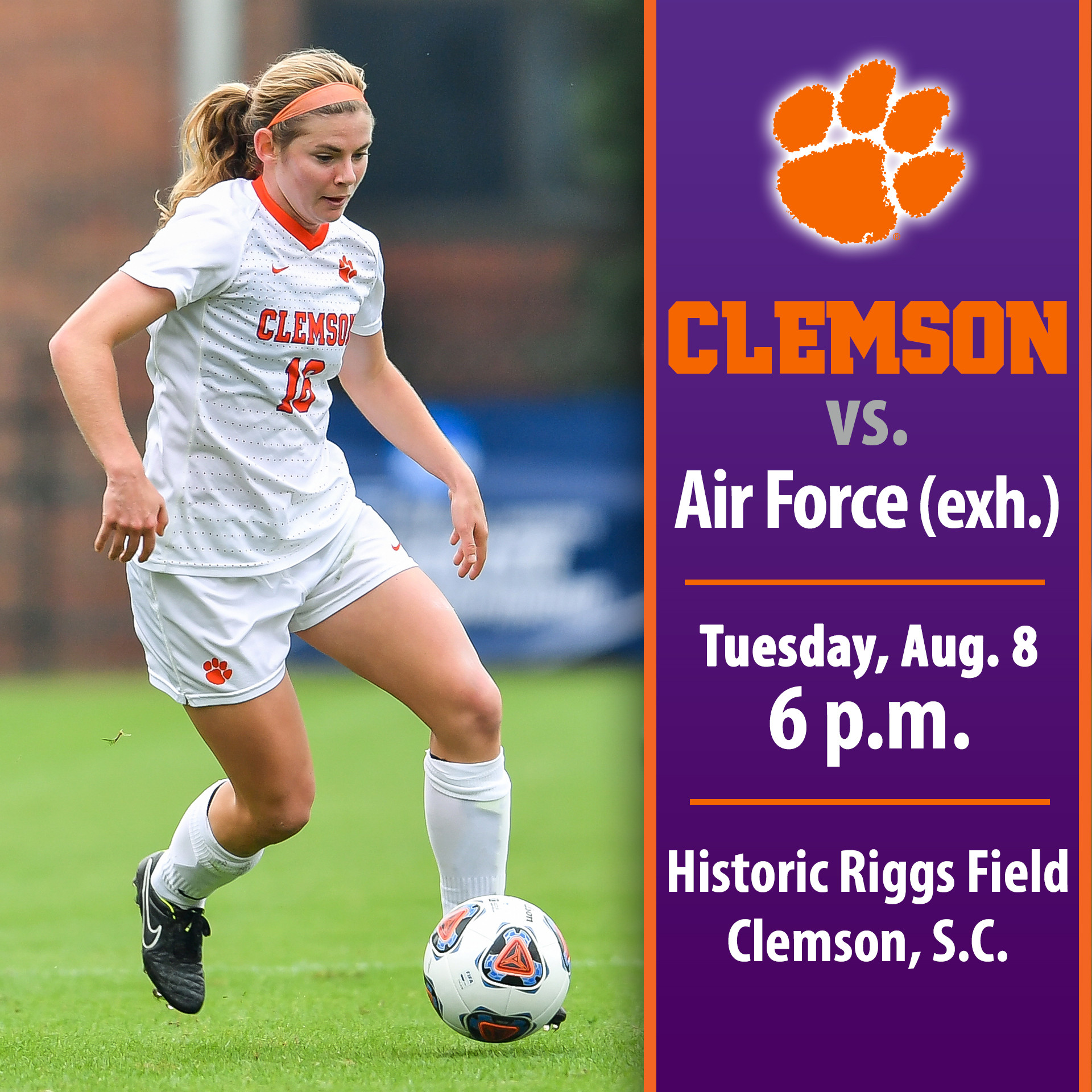 #13 Tigers Host Air Force in Exhibition Tuesday at Riggs