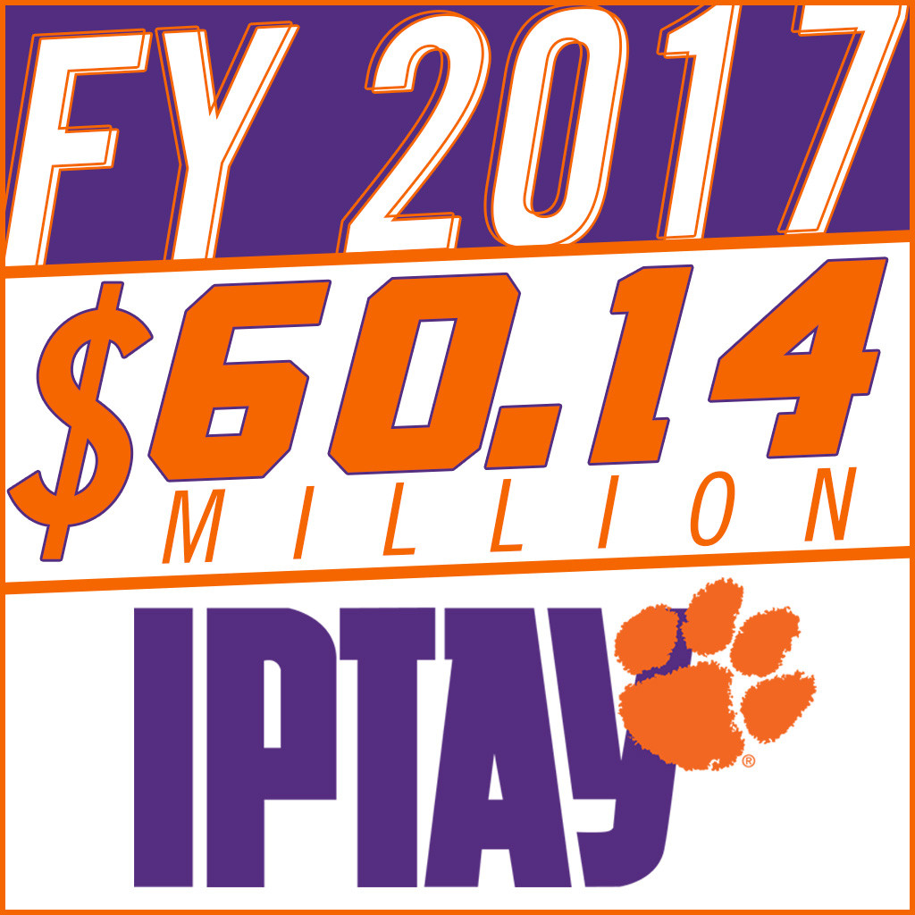 IPTAY Closes FY 2017 with Record $60.14 Million in Donations