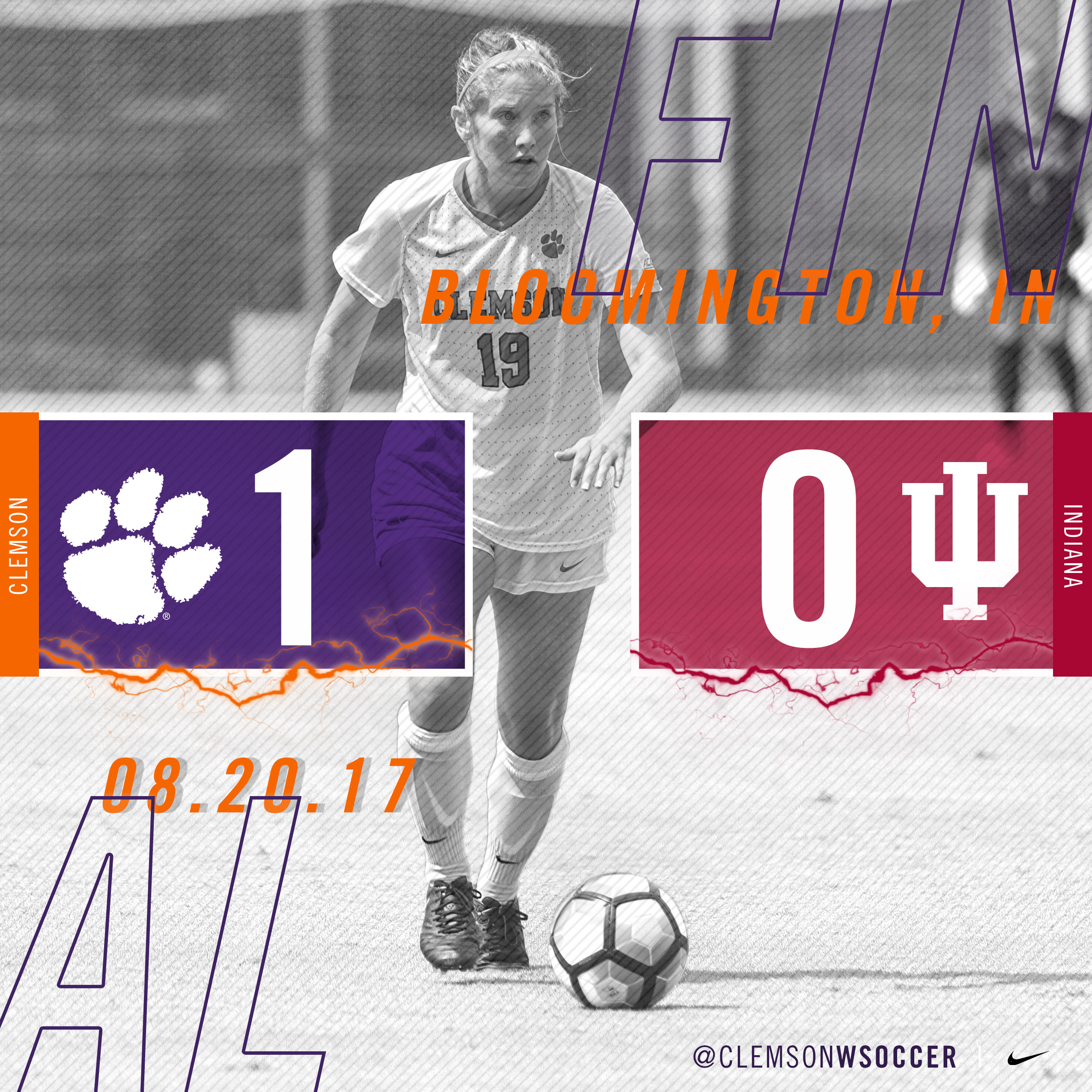Tigers Defeat Indiana 1-0, Win Hoosier Challenge Cup