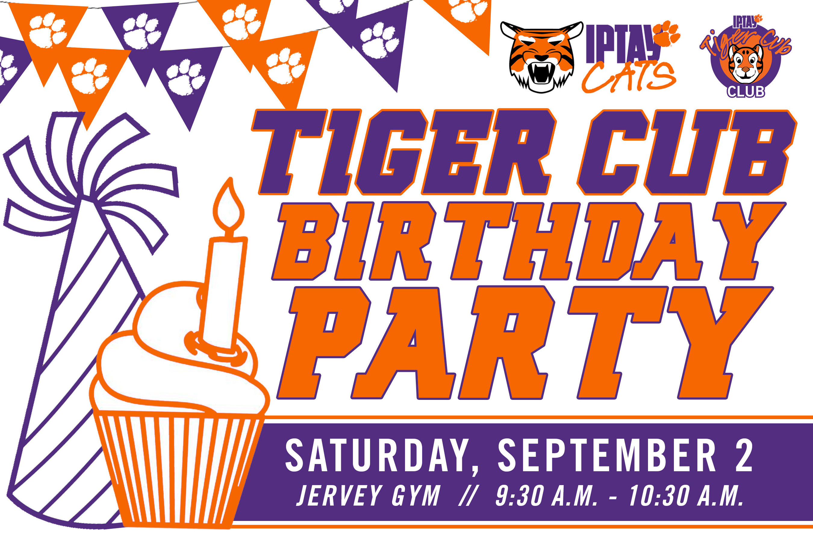 It's Time To Party! The Tiger Cub's Birthday Party Is Set For Saturday, September 2