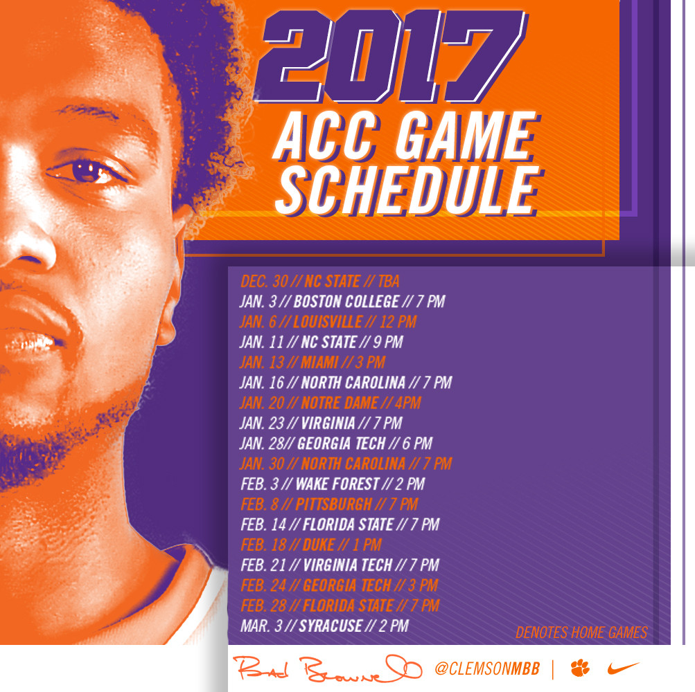 Full 2017-18 Schedule Announced