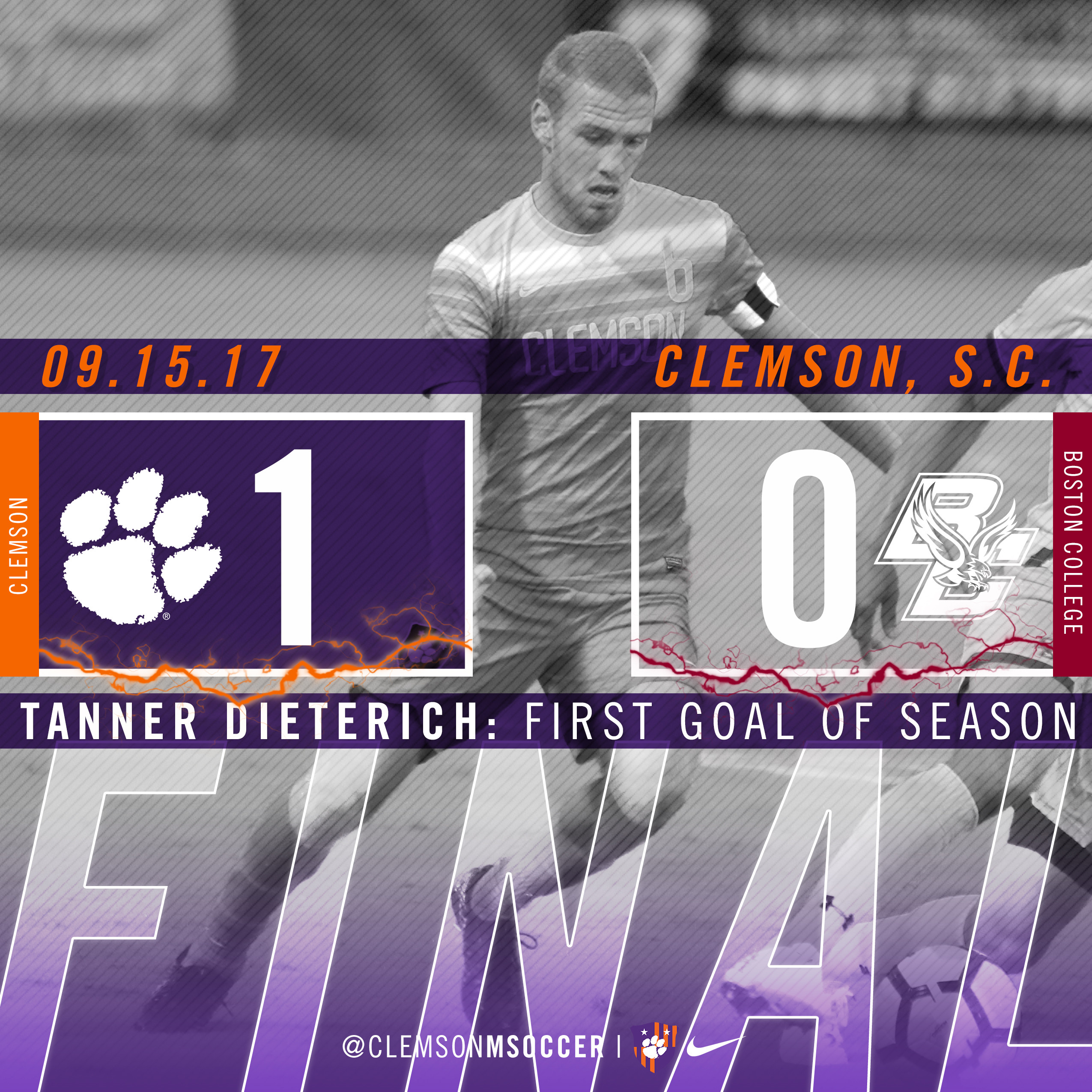 No. 10 Clemson Takes Down Boston College