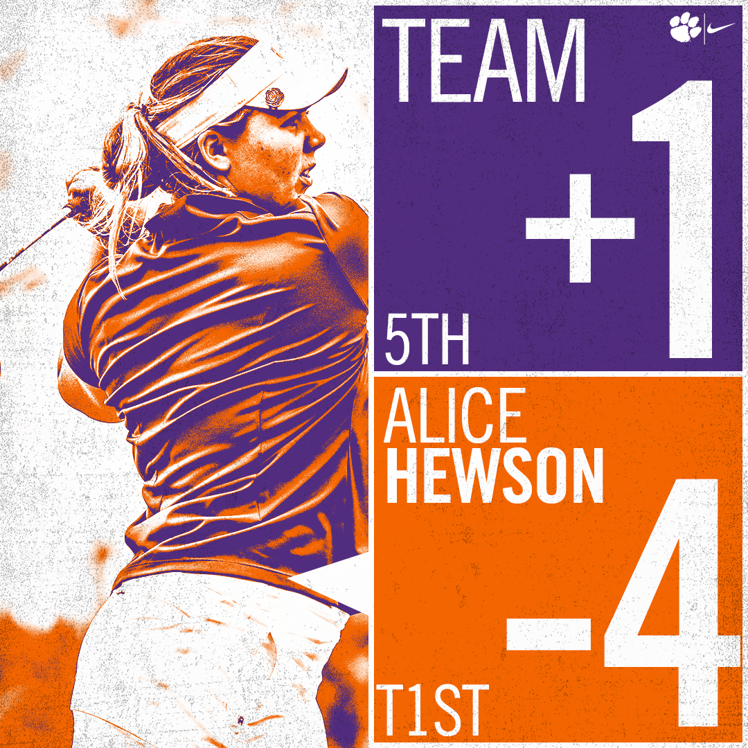Clemson 5th after First Round at Schooner Fall Classic
