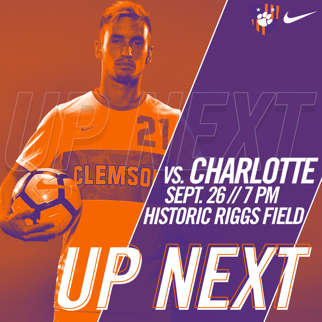 No. 8 Clemson Faces Charlotte on Tuesday