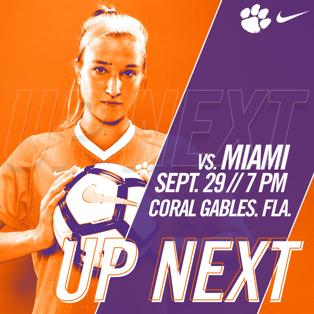 Clemson Continues ACC Play Friday at Miami