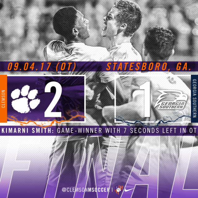 No. 5 Clemson Downs Georgia Southern in Overtime