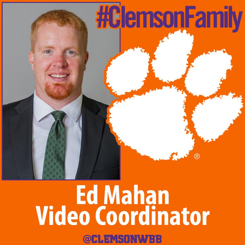 Mahan Joins Clemson Staff as Video Coordinator