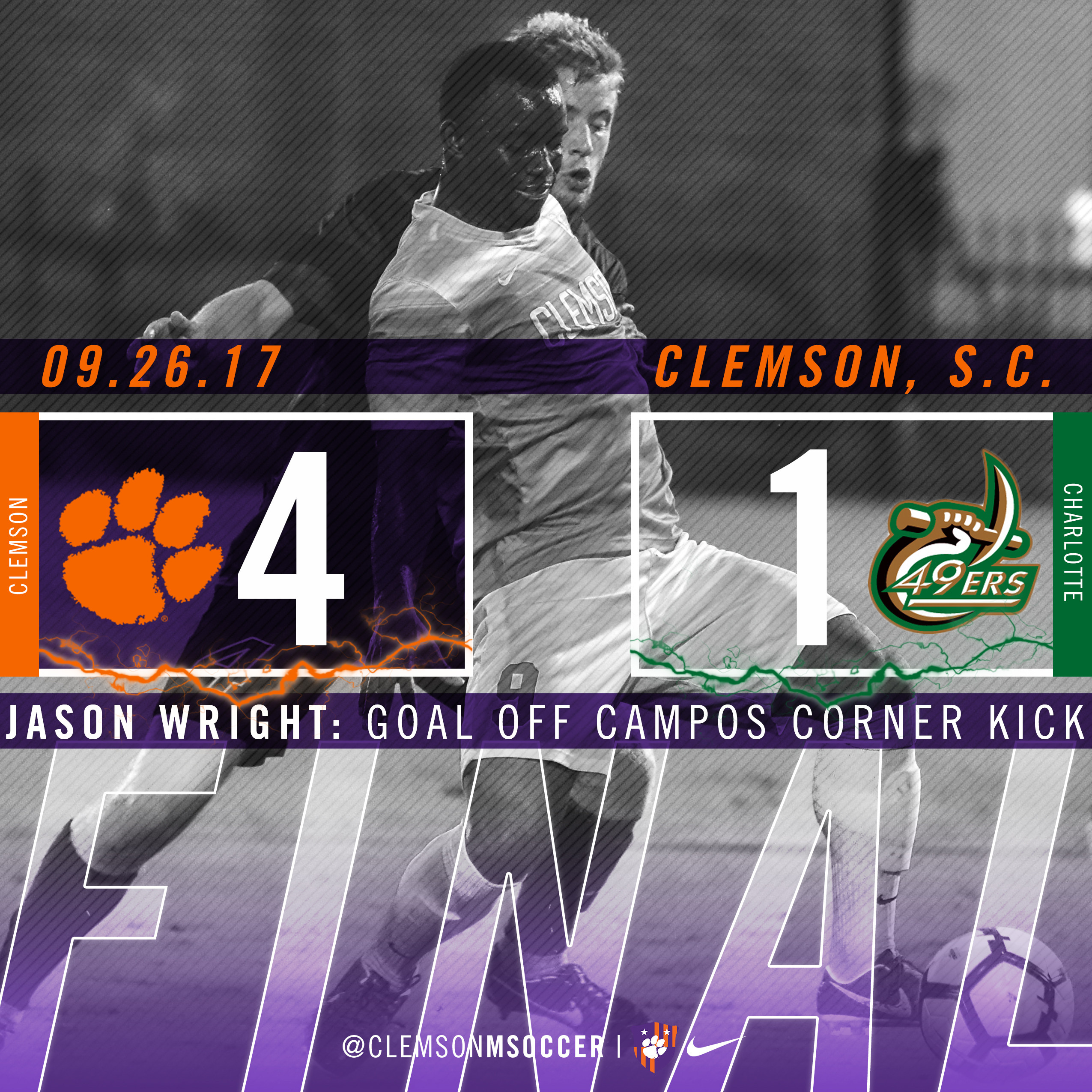 Senior Offense Pushes No. 6 Clemson Past Charlotte