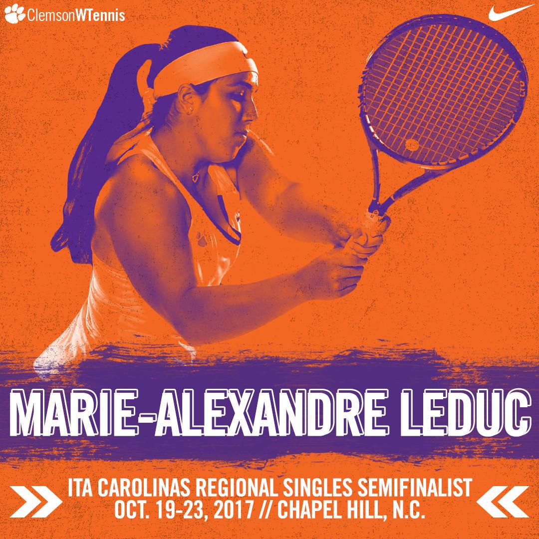 Leduc Advances to Singles Semifinal at ITA Carolinas Regional