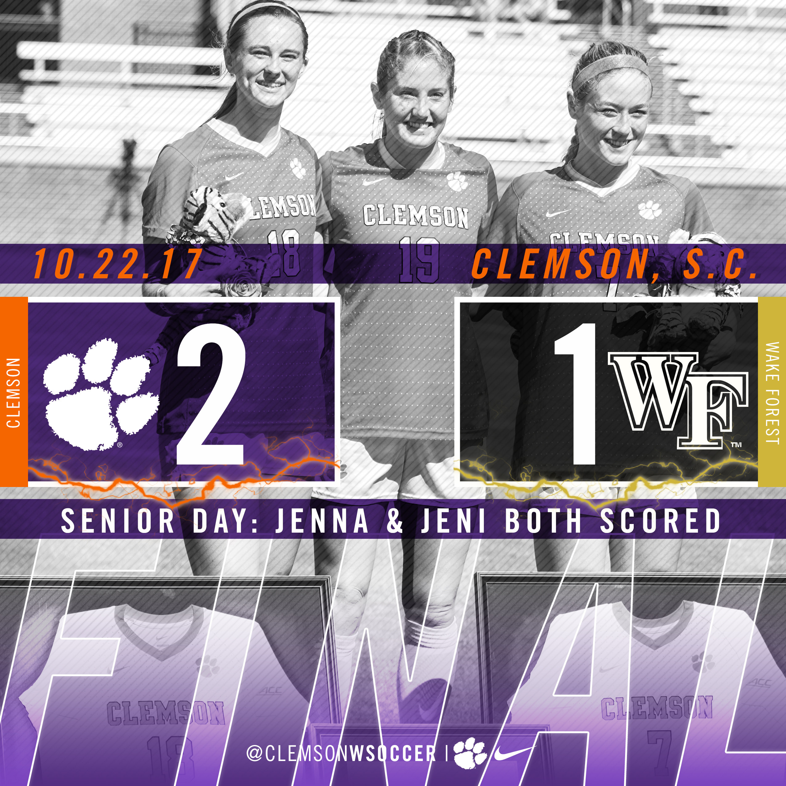 Senior Class Leads the Way in 2-1 Victory Over No. 15 Wake Forest