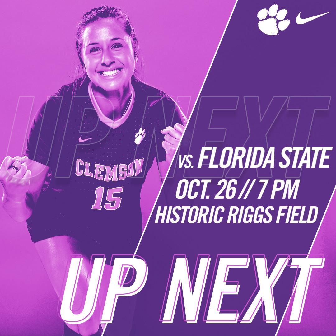 Clemson Hosts Pink Game vs. No. 23 Florida State Thursday